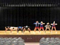 love the shoulder move at Cheer Tryouts, Cheerleading Cheers, Football Cheer, Cheer Coaches, Cheer Stunts, Varsity Cheer, Cheer Music, Cheer Dance Routines, Cheers And Chants