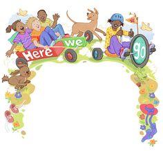Here We Go! - Chantelle and Burgen Thorne #fun #childrensbook #illustration #gocarts #kids #activities #dogs #reading #raiseareader #read #kidlit #kidlitartists #kidlitart #cute