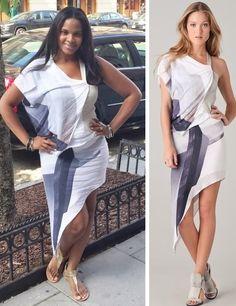 #HelmutLang Asymmetrical Print Dress With Leather Bodice (Medium)   Original Price $635 - Your Price $100