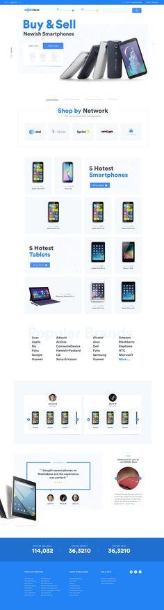 Marketplace Homepage Ui design concept by Julien Renvoye.
