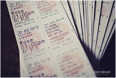 Movie tickets as a wedding invitation or a party favor----- I Want to do this!!
