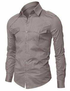 Doublju Mens Dress Shirt with Epaulet GRAY (US-XS) Doublju,http://www.amazon.com/dp/B009D8GEUA/ref=cm_sw_r_pi_dp_4Jmktb01BPNK38TD