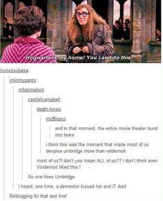 Poor Dementor. The lovestruck fool