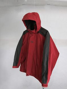 Vintage 90s Helly Hansen Helly Tech Proof Hooded Jacket Color block  Dark Gray/red  Size M by VapeoVintage on Etsy
