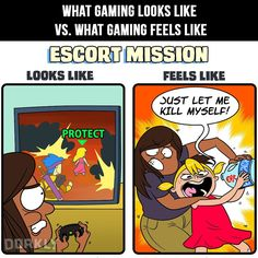 What gaming looks like vs. what gaming feels like.
