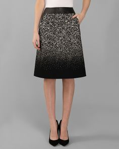 Lafayette 148 New York Bruna Tweed Skirt - love the ombre. Feel like reversing it would be better for my body shape (either solid to tweed downward, or possibly coming from a more monochromatic tweed into a lighter color at the flare).