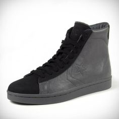 close-up photo of the CONVERSE X ACE SLATE PRO LEATHER HIGH TOPS