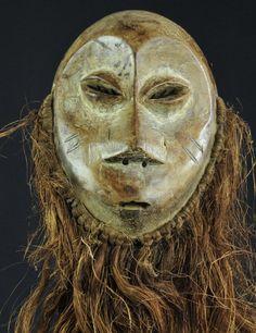 Masque LEGA  - Bwami  - Mask- Congo RDC MC0158 -MC0160