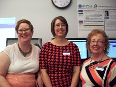 Teaching and Technology Showcase in the Library DisCo May 4, 2015 Library Director Cheryl McGrath, Head of Collections Assessment and User Engagement Liz Chase and Associate Director of Library Services Sue Conant.