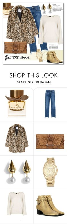 """Get the look"" by vkmd ❤ liked on Polyvore featuring Burberry, 3x1, MANGO, Kooba, Vita Fede, MICHAEL Michael Kors, Topshop, Yves Saint Laurent and GetTheLook"