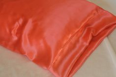 SALE Silk Pillowcase Hot Coral Standard or King by AdorabellaBaby, $38.00
