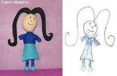 Doudou d'après un dessin d'enfant, par Trapos e Monstros  http://www.traposemonstros.blogspot.fr