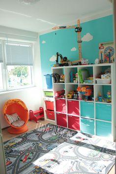 Kinderzimmer // Boys Room  Disney Cars // Octonauts Oktonauten // Ikea Callax Storage  Wolken türkies weiß rot blau