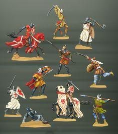 riddare av johanniterorden och Heliga gravens orden i kamp mot saracener, sent 1100-tal.