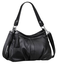 Heshe Womens Shoulder Bag Cross Body Hobo Handbag BlackH * Continue to the product at the image link.