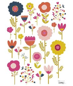 Vinilos infantiles niña flores colores Lilipinso