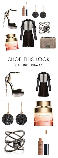 """Ooh La La"" by mandysimmons on Polyvore featuring Jimmy Choo, self-portrait, Astley Clarke, Michael Kors, Eva Fehren, Charlotte Russe and Chanel"