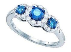 https://ariani-shop.com/103-cttw-10k-white-gold-blue-diamond-three-stone-ring-halo-setting-past-present-future-sizes-3-11 1.03 cttw 10k White Gold Blue Diamond Three Stone Ring Halo Setting Past Present Future (Sizes 3-11)