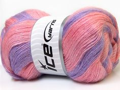 SIGN UP NEWSLETTER FEEDBACK ABOUT US This listing is for: 4 Balls (400 gr - 14.108 oz.)ANGORA COLOR GLITZ Hand Knitting Yarn Lilac Pink Salmon Item Information Brand : ICECategory : Angora Color GlitzClick here for other available colors of Angora Color GlitzLot # : Fnt2-32860Main Color : MulticolorColor : Lilac Pink Salmon Fiber Content : 40% Angora, 52% Acrylic, 8% LurexNeedle Size : 3-4 mm / US 3-6Yarn Weight Group : 2 Fine: Sport, BabyQuantity: 4 ballsBall Weight : 100 gr. (3.527 ...