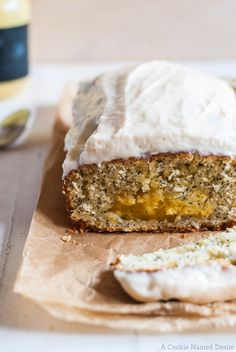 Citrus Poppy Seed Bread with Citrus Curd Swirl and Cream Cheese Frosting recipe.  Love the curd baked inside!