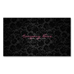 Plain White and Black Vintage Floral Damasks Business Card Templates. This great business card design is available for customization. All text style, colors, sizes can be modified to fit your needs. Just click the image to learn more!