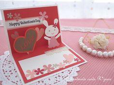 手作りの飛び出すカード屋R*piece(れいんぼーぴーす)の店主noriの気まぐれ日記。日々のカード作りやポップアップカードの作り方など、気まぐれに発信中です♪ Diy Cards, Happy Valentines Day, Paper Crafts, Frame, Handmade, Quotes, Valentines, Creativity, Crafting