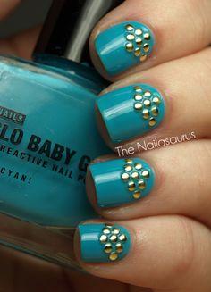 The Nailasaurus: Studded nail mani. Studs from Born Pretty Store