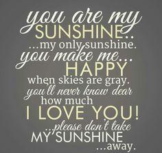 My Sunshine....