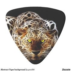 Abstract Tiger background Guitar Pick