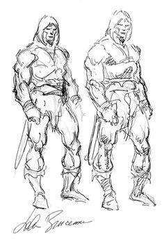 Conan Sketch - John Buscema Comic Art