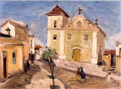 Igreja de São Vicente, São Vicente, SP, 1940 Mário Zanini (Brasil, 1907-1971) óleo sobre tela, 33 x 46 cmMuseu de Arte Contemporânea de São Paulo