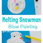 Do you want to build a snowman? Our MELTING SNOWMAN BLOW PAINTING ACTIVITY lets kids enjoy the thrills of snowman building and melting even when there isn't any real snow!