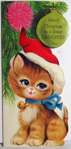 Vintage Christmas card. /linetind/christmas/           BACK