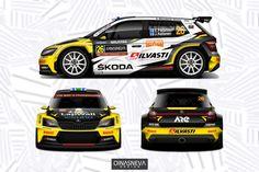 Rallye Automobile, Racing Car Design, Subaru Cars, Skoda Fabia, Car Illustration, Car Painting, Rally Car, Car Wrap, Wrx