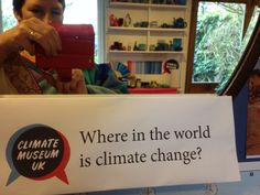 Also, the mirror had a prompt above it to consider 'where are you in climate change?'