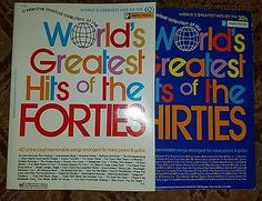 World's Greatest Hits of the Thirties & Forties song books music piano vocal