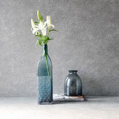 Eduardo Blue Glass Vase Iphone Wallpaper Sky, Blue Glass Vase, Modern Interiors, Cut Flowers, Flower Vases, Art Pieces, Colours, Display, Instagram Posts