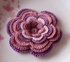 Larger Crochet Flower in 3-1/4  inches