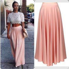 Pink Flare Skirt Pink Flare Skirt Skirts
