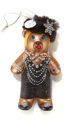 HSN Cares Heidi Daus Ornament - This dressed-to-impress teddy ornament gives fashionable fundraising a whole new meaning. And, since your purchase goes to help the kids of St. Jude's Children's Research Hospital®, it's a treat you can feel good about indulging in!