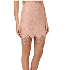 ✨Coming Soon✨FL&L Guava Pale Blush Mini Skirt L ✨Coming Soon✨ NWT For Love & Lemons Guava Mini Skirt in Pale Blush. Size Large. ✨No Trades/PP✨ For Love and Lemons Skirts Mini