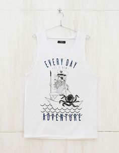Text and print top. Discover this and many more items in Bershka with new products every week