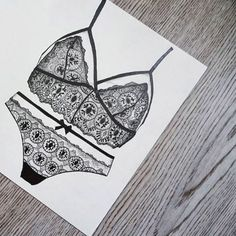 hunkemoller - Wow, our fans are SO talented! Check out the amazing details of this drawing! #bralette #artwork #lace #regram @geen_gezicht
