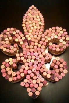 Fleur De Lis wall art with wine corks :)