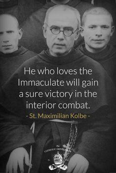Maximilian Kolbe & his beloved Blessed Virgin Mary Catholic Religion, Catholic Quotes, Catholic Prayers, Catholic Saints, Roman Catholic, Church Quotes, St Maximilian, Catholic Gentleman, Religious Pictures