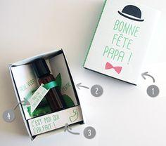 Cadeau DIY Fête des pères : Roll-on contour des yeux anti-fatigue. Bonne fête Papa ! www.creations-savoir-faire.com #salonCSF