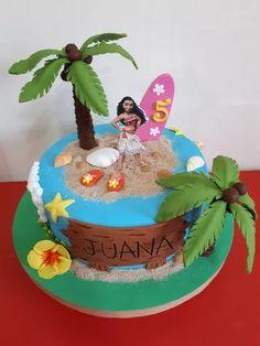 torta cumpleaños moana hawaiana personalizada a pedido envio