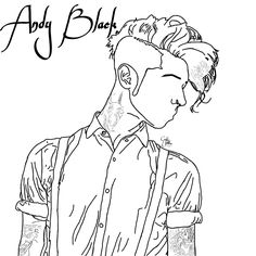 FanArt (Drawing) of Andy Biersack. Andy Black - The Shadow Side