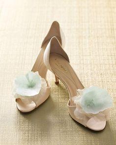 Lace Floral Shoe Clips