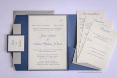 Luxury Pocketfold Wedding Invitation Suite  by DesigningMoments